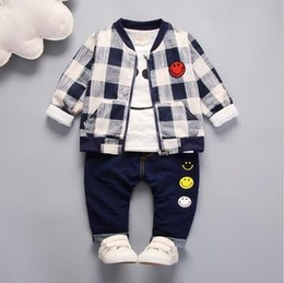 Three Piece Suit Bow Australia - Spring and autumn children's clothing Suit Boys Outfit bow tie three piece set casual pants Boy Suit Toddler Newborn Set Baby Wear 002