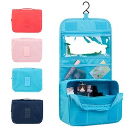 Travel Kit Clothes Australia - Hanging Toiletry Kit Clear Travel Bag For Storing Cosmetic Carry Pockets Toiletries For Women Grilling Gift Travel Bathroom