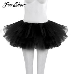 China 2017 Women Adults Ballet Tulle Skirt Womens Dancer Multi-layers Ballet Skirt Womens Dance Clothing Tutu Costume cheap womens black white costumes suppliers