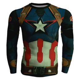 $enCountryForm.capitalKeyWord NZ - Men's fashion creativity t-shirt Avengers tights tee superhero Captain America sport long sleeves cycling fast dry basketball vest