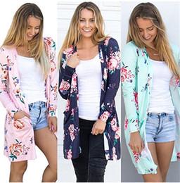 94c8983059e03 Mujeres florales de las rebecas rosa verde flores otoño ropa exterior ropa  femenina al por mayor barato tamaño de la UE envío gratis