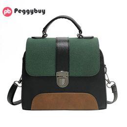 Color Leather Bags Australia - New Casual Crossbody Bag for Women PU Leather Handbag Girl Patchwork Color Purse Clutch Fashion Designer Messenger Shoulder Bag