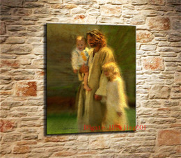 Discount floral oil paintings - Jesus Greg Olsen , Canvas Pieces Home Decor HD Printed Modern Art Painting on Canvas (Unframed Framed)