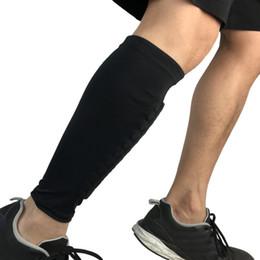 Leg Cycling Australia - 1Pcs Anti-crash Leg Calf Sleeve Gym Sport Football Shin Guard Protector Soccer Honeycomb Compression Cycling Running Leg Warmers