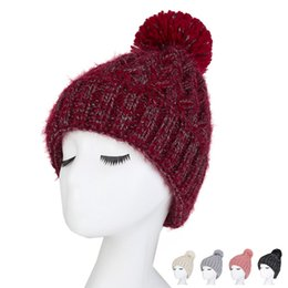 cd422a0e7f5 Fashion Simple Style Winter Hat Female Solid Colorful Velvet Warm Wool Hat  Thickening Earmuffs Couple Youth Knit Hats