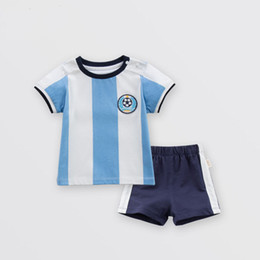 bb790c154 Boys cotton short-sleeved jersey set 2018 summer new Korean version of children s  clothing baby infant kids two-piece set