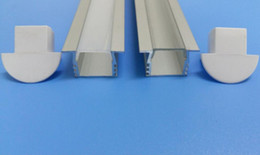 Cover profiles online shopping - China Supplier Best LED Tape Diffusion Channel Aluminum Profile with cover and end caps and clips for LED Strip Light