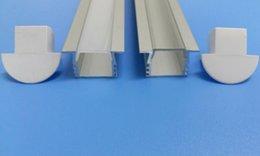 Envío gratis Proveedor de China Mejor perfil de aluminio del canal de difusión de cinta LED con tapas y tapas y clips para luz de tira LED en venta