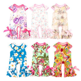 Chinese  2018 Summer Kids Clothing Baby Girls Clothes Girl Rompers Ruffle Floral Jumpsuits Valentines Days GiftS Easter Newborn Romper BY0253 manufacturers