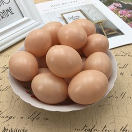 Easter Eggs Fake Simulation Faux Eggs Wooden Toy Kids Children DIY Painting Z