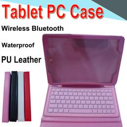 T550 10 pouces Bluetooth3.0 Clavier Etui en cuir PU Titulaire étanche pour support de carte Carte en cuir intégrée pour Samsung T550 TAB 4 Tablet PC EXPT-3 en Solde