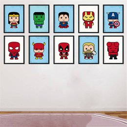 Modern Art Printing Posters Nordic Minimalist Cartoon Spider Man Superhero Painting Wall Pictures Kids Room Home Decor