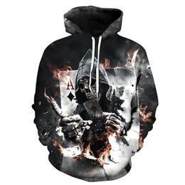 $enCountryForm.capitalKeyWord Australia - Skull Poker Hoodies Sweatshirts Men Women 3D Pullover Funny Rock Tracksuits Hooded Male Jackets Fashion Casual Outwear