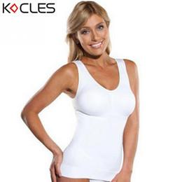 5d43c670b3d Hot Shaper Slim Up Lift Plus Size Bra Cami Tank Top Women Body Shaper  Removable Underwear Slimming Vest Corset Shapewear