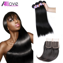 Great hair weaves online shopping - Cheap A Brazilian Hair Bundles Indian Virgin Hair Wefts Great Quality Human Hair Weave Peruvian Body Wave Straight Bundles With Closure
