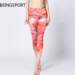 dancing sports pants Canada - 2018 Women Yoga Pants Print Sports Yoga Leggings Trousers Dance Running Sport Pant For Female Gym Running