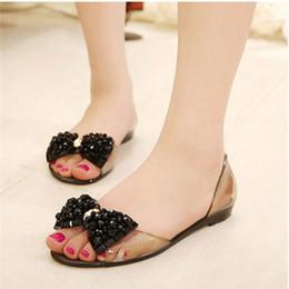 $enCountryForm.capitalKeyWord Canada - Bigsweety Summer Sandals Women Fashion Jelly Shoes Sandal Bling Bowtie Transparent PVC Flat Shoes Woman Beach Sandalias Femme