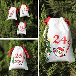 Tea gifT packs online shopping - New Christmas drawstring bags cartoon Santa Sack Bags creative gifts bag home cotton candy tea packing Storage bag I365