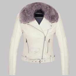 bd254f578f55 Plus Size Autumn Winter Women Pu Leather Jacket Long Sleeve Slim Restoring  Motorcycle Women Basic Jacket Coat With Fur W356