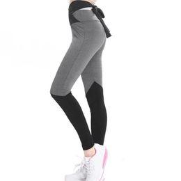 $enCountryForm.capitalKeyWord Canada - Women High Waist Sports Gym Yoga Running Fitness Workout Leggings Pants Sexy Strap Stitching Yoga Pants Sweatpants Leggings