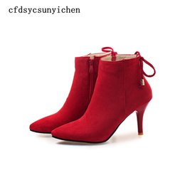 9b036145058fd Sexy Hot Sale Black Green Red Women Ankle Boots Ladies Dress Shoes High  Heels BA-ASCP-08-10 Plus Big Size 4.5 10 43