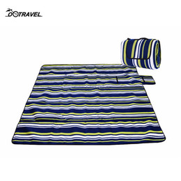 $enCountryForm.capitalKeyWord NZ - Portable Large Thicken Suede Picnic Blanket Mat Waterproof Beach Camping Baby Climb Blanket Foldable 200x200cm 11 color