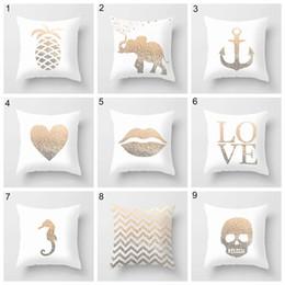 Car style pattern online shopping - 25 Styles simple English pillowcase print pineapple pillow case bed sofa waist cushion cover car hom decor peach fleece pillowcase
