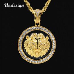 Discount necklace lion - Uodesign Hip hop Lion Pendant Necklace Enamel Disc Necklace Men Hip Hop