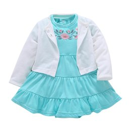 $enCountryForm.capitalKeyWord NZ - The Limited New Arrival Active Little Girl's Clothes Skirt Dress Brand Children's Clothing In 2018 100% Sets of Newborn Clot