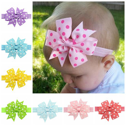 40pcs Sweet Children s Elastic Force Hair Band Princess Baby Girl Round Dot  Bowknot Hairband Grosgrain Ribbon Girls Hair Accessories 616 f8696b92e2e