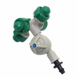 5 conjunto Micro Spray De Água Terno Atomização Bico Estufa Sistema de Irrigação Por Aspersão Fittings Anti-gotejamento 1/4 '' conector barb em Promoção