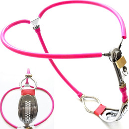 Hole sex online shopping - 2018 Latest Design Invisible Female Adjustable Stainless Steel Chastity Belt Device With Defecate Hole Adult Bondage Bdsm Sex Toy