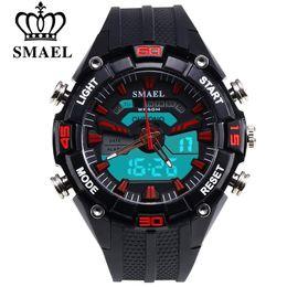 Discount luxury watches s - SMAEL New Brand Fashion Watch Men S Style Waterproof Sports Military Watche Shock-proof Luxury Analog Digital Sports Wri