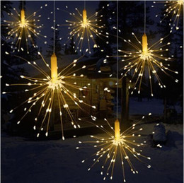 moon string lights NZ - DIY Outdoor Waterproof Christmas LED String Lights Firework Battery Operated Decorative Fairy Lights for Garland Patio Wedding