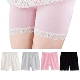 a989df3afc9 summer fashion girls cotton short leggings lace short leggings for girls  lace safety pants shorts baby girl short tights high quality