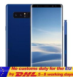 Discount 2g mp3 player Real Fingerprint Goophone note8 6.3inch Edge Curved 4G Lte Octa Core 2G Ram 16G Rom Add 64G Card Shown 3G RAM 64G ROM An