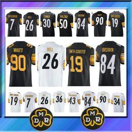 84 Antonio Brown Pittsburgh Steeler jersey 19 Juju Smith-Schuster 30 James  Conner 7 Ben Roethlisberger 36 Jerome Bettis 26 Le Veon Bell e02f5773a