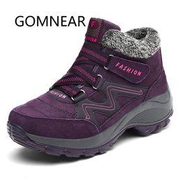 $enCountryForm.capitalKeyWord NZ - GOMNEAR Plush Warm Black Hiking Shoes Women Winter Outdoor Hiking Boots Waterproof Non-Slip Walking Shoes Sports Sneakers