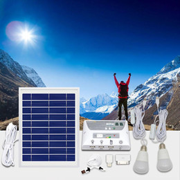 12v camping lights 2019 - Multi-Function Solar Lighting System Portable Light Kit Home Outdoors Camping Tent Emergency Charging Mobile Phone disco