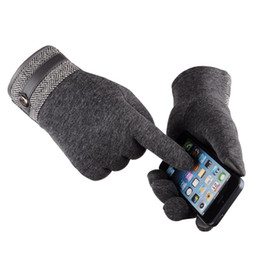 China 2019 Mens Winter Popular Business Casual Style Black Brown Grey Blue Colors Cashmere Gloves for Gift suppliers