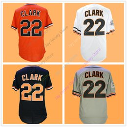 Button downs online shopping - Will Clark Jersey Cooperstown Home Away White Black Orange Grey Vintage Pullover Button Down