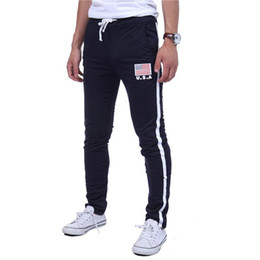 american flag trousers Australia - 2018 new Men Gyms Sports Pants Casual Elastic Trousers skinny American flag printing Sweatpants Jogger Pants M-XXL