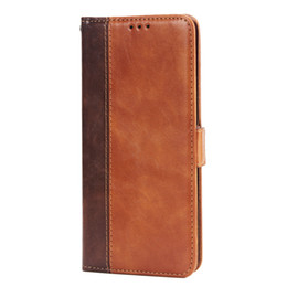 $enCountryForm.capitalKeyWord NZ - Vintage Double Color Stitching Leather Wallet Phone Case for Samsung Galaxy Note 8 S6 S7 Edge S8 S9 Plus and iPhone 6S etc