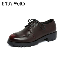 6294ee4e9de38 E TOY WORD Patent Leather Shoes Women Lace-Up Platform Oxfords Women's  Shoes British Style Creepers Flat Casual