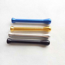 metal smoking pipe tube NZ - 68mm 55mm 78mm 82mm Metal Snuff Straw Sniffer Snorter Nasal Tube Snuffer Nasal For Smoking Pipe Use Tools Accessories 5 colors 4 Style