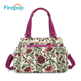 Large Floral Bag Canada - Findpop Floral Printing Handbags Women Waterproof Nylon Crossbody Bag For Women 2018 Large Capacity Casual Shell Top-Handle Bag Y18102203