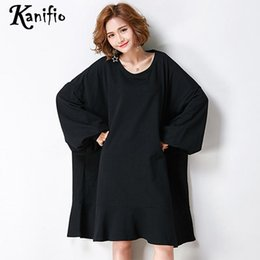 Plus size oversized shirts online shopping - Kanifio Oversized Clothes Plus Size Women Solid Color Coon T Shirt Lady Loose Casual Top Tee Shirt Female Tunic Blusa XL XL