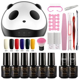 $enCountryForm.capitalKeyWord NZ - MIZHSE Gel Nail Polish Kits French Manicure Set 36W Cute UV Lamp Dryer 6pcs Lacquer Hybrid Clear Top Base Accessories For Nail