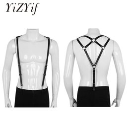 $enCountryForm.capitalKeyWord Australia - YiZYiF Unisex Punk Suspenders Harness Belt Adjustable PU Leather Body Chest Harness fetish Sexy Waist Belt Buckles Metal O-Rings