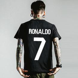 9f999b5b442 Cristiano Ronaldo t shirt Cr7 football short sleeve Soccer sport tees  Leisure unisex clothing Quality cotton Tshirt